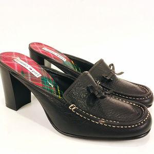 Tommy Hilfiger Women's Leather Slip On Clogs Sz 9M